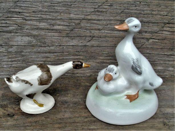 Figurki porcelana sygnowana komplet 2 szt