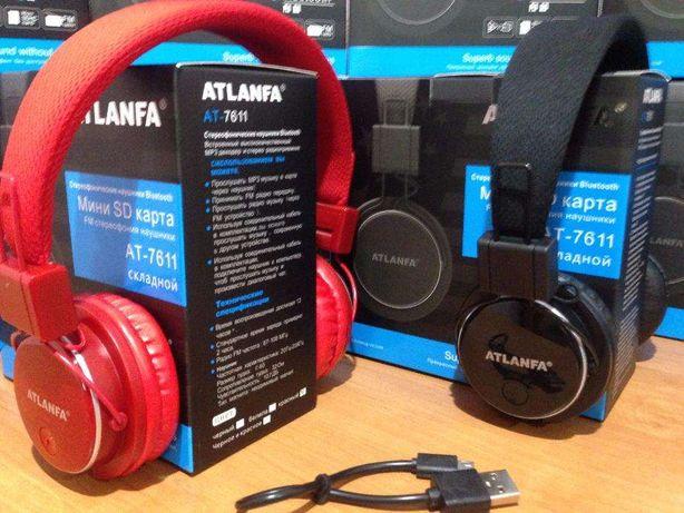 Bluetooth наушники Atlanfa Monster AT - 7611 с MP3 плеером и FM радио