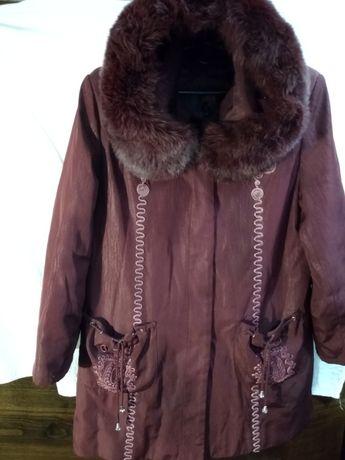 Куртка зимняя на кролячей подстежке 46-48размер