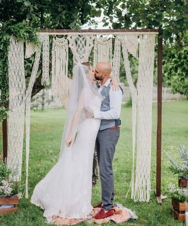 Свадебная арка из макраме. Декор на свадьбу. Свадьба в стиле бохо.