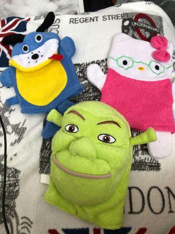 Детские мочалки-рукавички Aqua Tonus /Crovenor