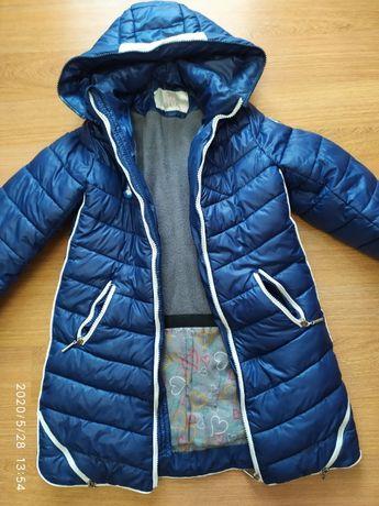 Куртка зимняя с капюшоном с сайта Барбарис разм.128