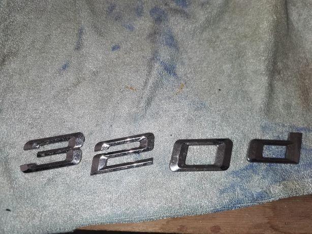 Oryginalny emblemat 320d bmw e90