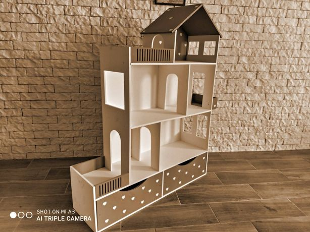 Комплект кукольный домик + мебель!!!