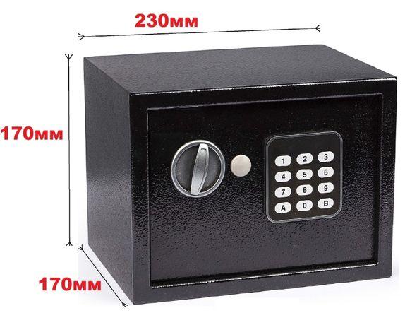 Качественный сейф 230х170х170мм для дома и офиса с электронным замком