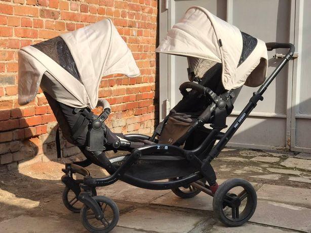 Детская универсальная коляска для двойни ABC Design Zoom