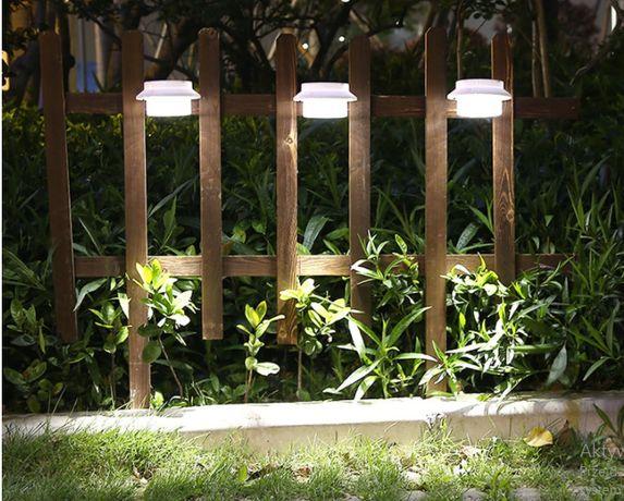 Wisząca lampa solarna KINKIET zewnętrzna LED X3 zimna ogrodzenie płot