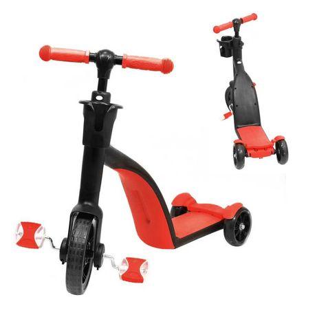Детский Самокат-Беговел-Велосипед трансформер