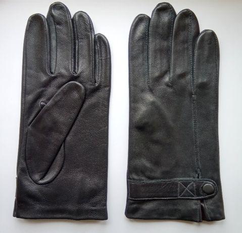 Мужские перчатки из натур кожи без подкладки