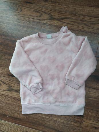 Bluza dla dziewczynki mięciutka, puchata H&M 92