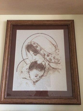 Вишивка (образ)Марія з немовлям на замовлення