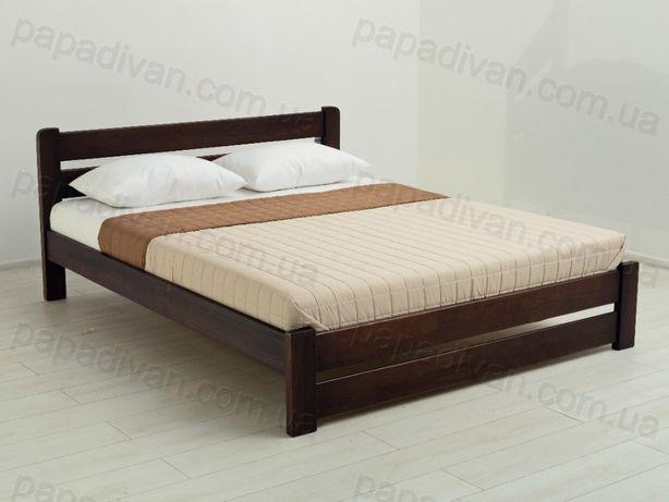 Кровать Деревянная Двуспальная Рич 140х190см Двуспальная. Сосна