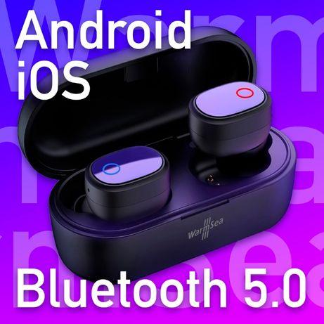 WarmSea słuchawki bezprzewodowe bluetooth 5.0 nowe TWS