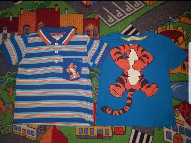 Zestaw 2szt. Bluzeczka krótki rękaw 92cm Disney Tygrysek H&M i Smyk