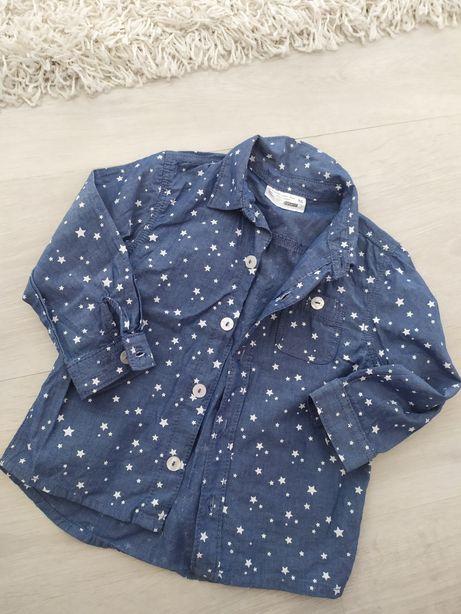 Koszula jeansowa dziewczceca 86 gwiazdki