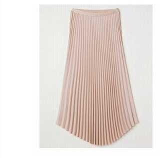 Plisowana spódnica h&m pudrowy róż 36 s nowa guma