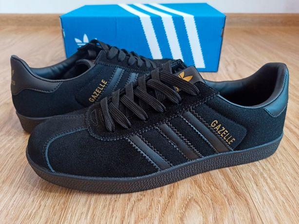 Черные Adidas Gazelle 26см 40 41 мужские кроссовки кеды Адидас