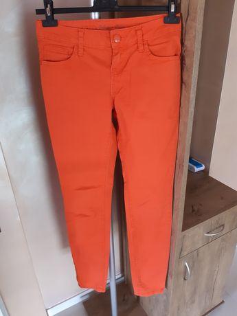 Spodnie jeansowe pomarańczowe rozmiar S