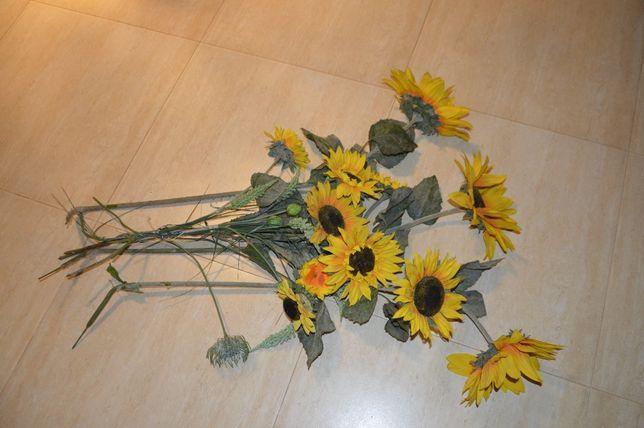 Bukiet słoneczników i roślin. Jak żywe,bardzo ładne. 100cm Do kolekcji