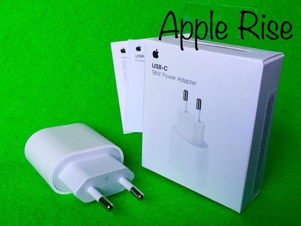 Оригинал Зарядка Быстрая для Айфон Айпад 18W USB Type C Блок Iphone 12