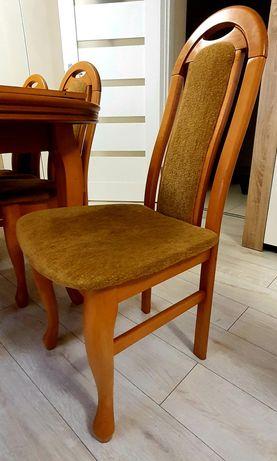 Komplet stół + 6 krzeseł drewnianych super stan
