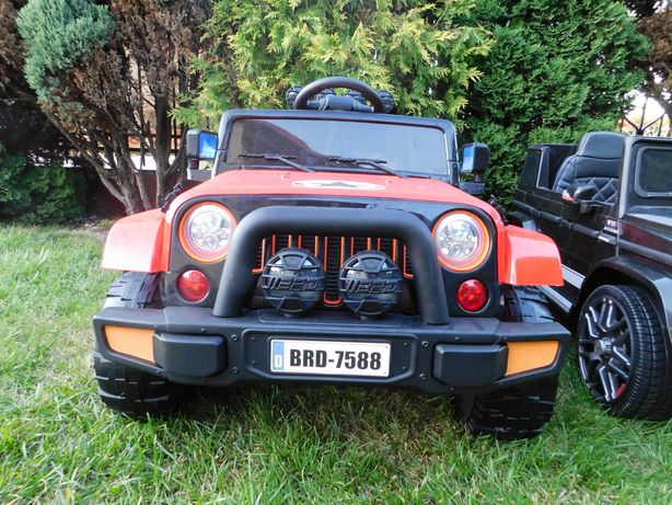 Autko na akumulator Jeep samochód Pilot Skóra Eva Samochód pojazd AUTO