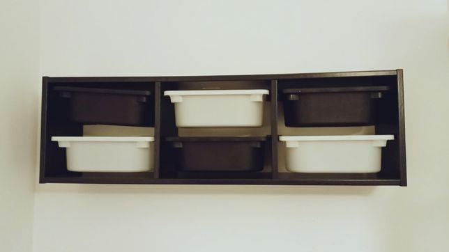 TROFAST szafka ścienna czarna Ikea