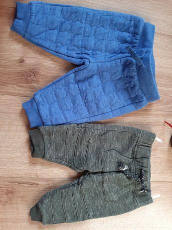 Spodnie ciepłe2szt 68