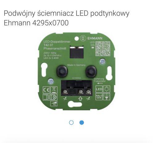 Podwójny ściemniacz LED podtynkowy Ehmann 4295x0700