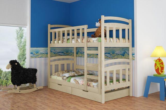 Piętrowe dwu osobowe łóżko wykonane z drewna sosnowego!