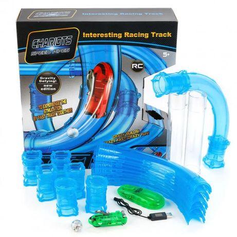 Детская игра трубопроводные гонки 37 деталей. Конструктор. Машинка