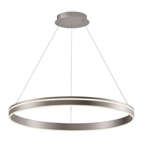 Lampa żyrandol ring koło plafon zwis pilot srebrna czarna 40,60,80cm