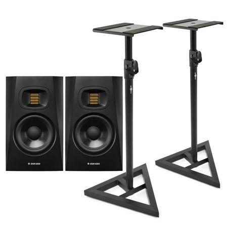 Adam audio t5v para monitorów + stojaki + kabel miedź hifi + kable xlr