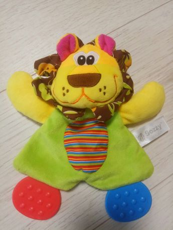Игрушка-шуршалка лев прорезыватель Sozzy