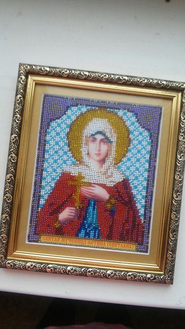 Икона вышитая бисером Светлана можно на подарок