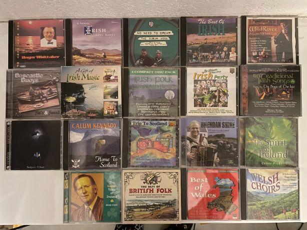 19 CD de Folk britânico, escocês, irlandês, galês