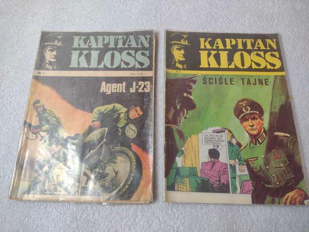 25zł/2szt Komiksy Kapitan Kloss Agent J-23 Ściśle tajne komiks