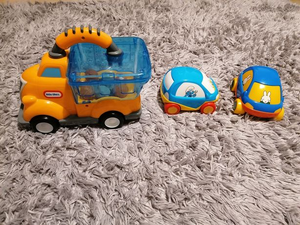 Ciężarówka,wywrotka, pchacz Little Tikes, GRATIS 2 autka