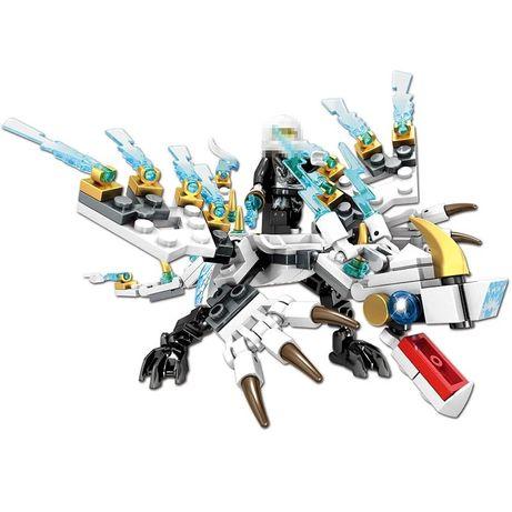 Lego Ninjago Biały Ninja Zane Smok klocki z LEGO kompatybilne