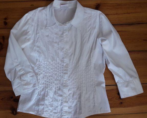Biała bluzka koszulowa