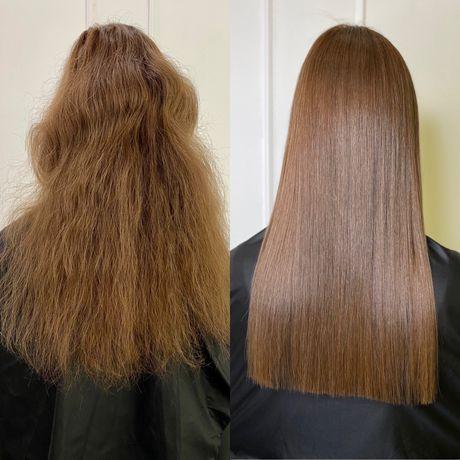 Кератиновое выпрямление волос. Кератиновое восстановление волос.