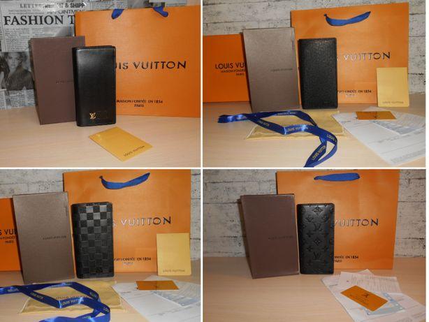 Кошелек мужской портмоне Луи Виттон Louis Vuitton, кожа, Франция 62665