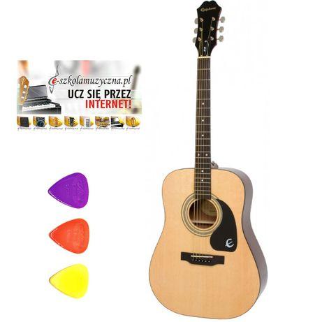Gitara akustyczna Epiphone DR 100 NA + kostki BRATPOL TORUŃ