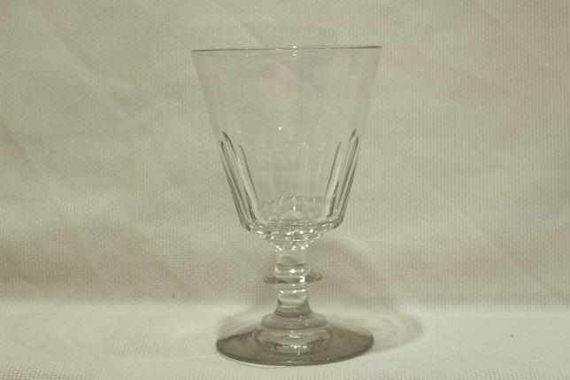 Copo água cristal pétalas antigo alto-relevo XIX