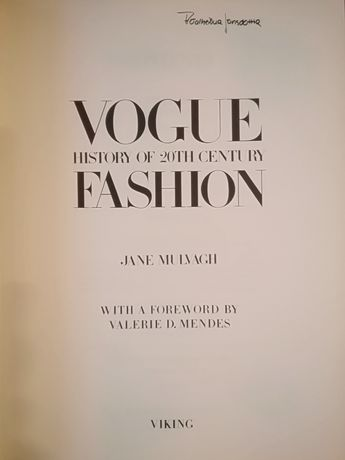 Vogue history of 20th century FASHION . Jane Mulvagh