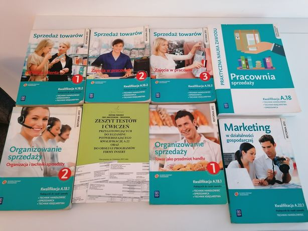 Książki, technikum handlowe, marketing