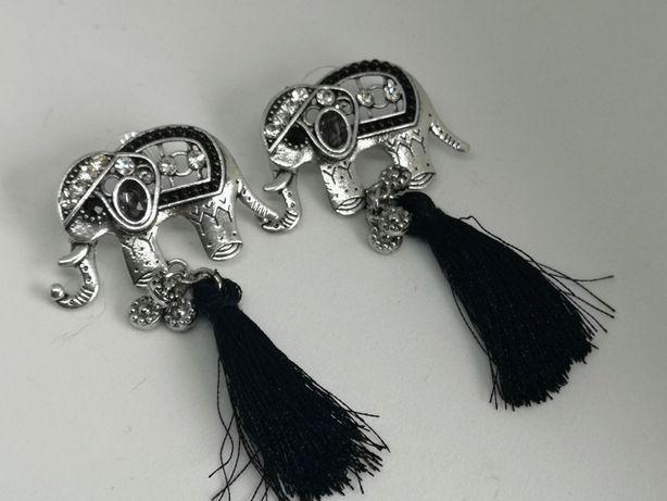 Kolczyki w stylu indyjskim słonie słoniki