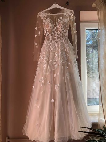 Suknia ślubna rozmiar 34/36 na wzrost 173 cm + baleriny