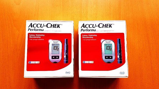 Accu-Chek Performa Glukometr + Paski testowe i Opaska Gratis :) Nowy