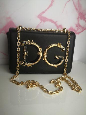 Torba Dolce Gabbana kopertówka czarna skórzana premium